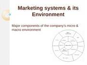 Marketing Systems & its Environment
