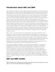 Introduction about ABC and ABM.docx