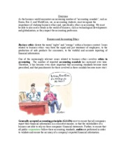 Unit 1 Lesson 3- Business and Accounting Ethics