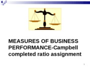 Measures of Performance  Campbell ratio completed assignment(1)
