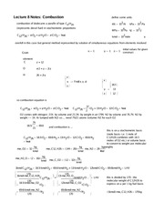 Lecture 8 Notes Combustion