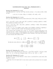 MATH 226 Fall 2014 Problem Set 4 Solutions