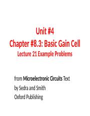 Unit 4 Examples for Lecture 21.ppt