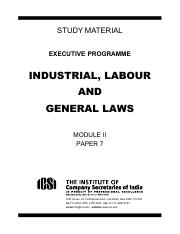 7. Industrial, Labour and General Laws.pdf