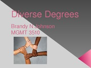 Diverse Degrees