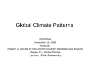 20 Global Climate Patterns