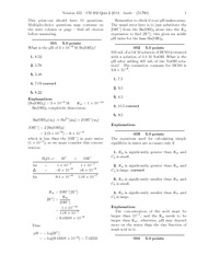 CH 302 Quiz 2 2014-solutions