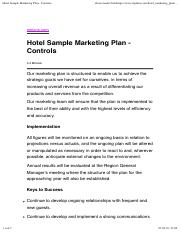 Hotel Sample Marketing Plan - Controls.pdf