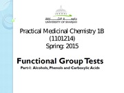 Practical Medicinal Chemistry 1B (2)