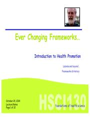 Oct24 intro to health promotion