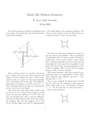 Math 128 Geometry Notes