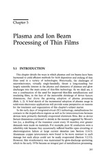 ch.5 plasma and ion beam processing of thin films