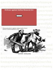Defense against Indian Removal Act.docx