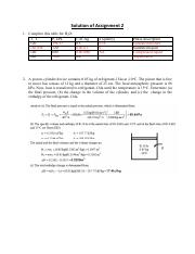 thermodynamics assignment 2