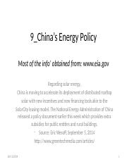 9_China's Energy Policy