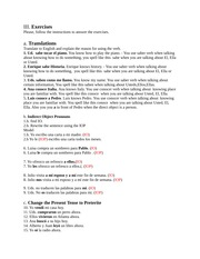 Spanish Forum lesson 6