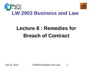 LW2903 Business Law 8(1)