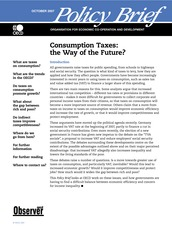 Consumption Tax - The Way of the Future
