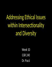 20 - Addressing Ethical Issues Within Intersectionality and Diversity