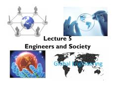 Lecture 5 Engineers and Society - section 1