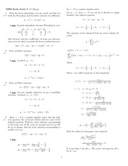 Exam 3 Study Guide Solution Winter 2008 on Ordinary Differential Equations