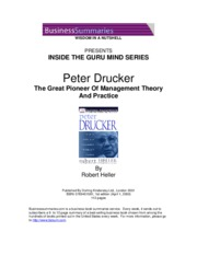 Inside the guru mind - Peter Drucker