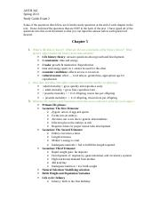 ANTH 342 Study Guide Exam 2 Spring 2013