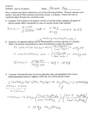 Quiz 8 Solution Summer 2014 on General Cheistry