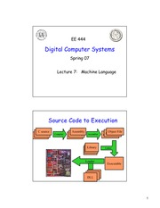 EE 444 Lecture on Machine Language