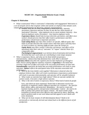 MGMT 319 - Exam 2 Study Guide