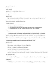 Careers In Early Childhood Assignment 8 Course Number And Title