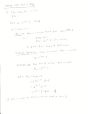 Discrete and Foundational Mathematics I Test 3 Solutions