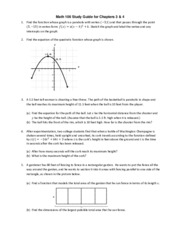 Math 106 Final Exam Study Guide Part 2