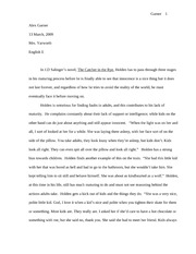 catcher essay 1