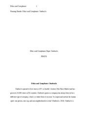 FIN370 Ethics and Compliance Paper-Starbucks