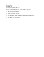 Chapter 3 Critical Thinking Exercises