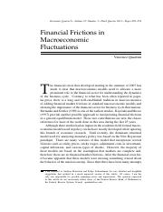 Financial Frictions in MAC fluctuation