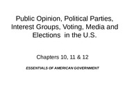 Parties, Interest Groups, Campaigns and Media2(2)