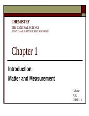 Chapter 1 Matter and Measurement BbV1 F12(1)