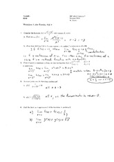 Worksheet 3 Solution on Calculus 1