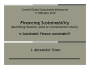 Sloan sustainable finance Feb10