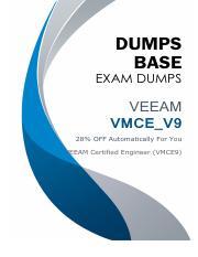 Latest VEEAM VMCE_V9 Exam Dumps V12 02 2019 pdf - DUMPS BASE