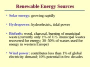 Lecture 23 - Renewable Energy