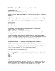 Eco202 Principles of Macroeconomics Assignment.docx