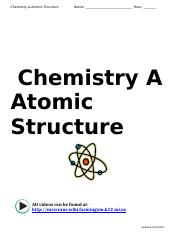 Atomic Structure Packet 2014