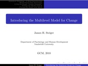 Psychology 319 (GCM)_Steiger_Lecture Notes on Introducing the Multilevel Model for Change