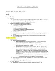 Pediatric Exam II - Study Guide.docx