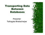 6-Transporting Data Between Databases