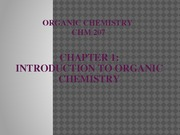 Chapter 1-Introduction to Organic Chemistry