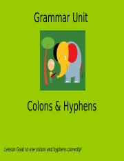 Colons & Hyphens.ppt